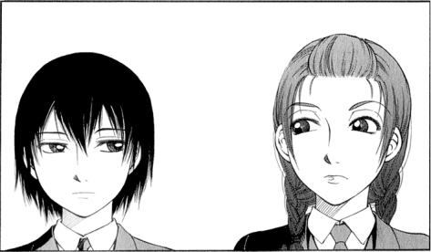 Momo [left] and Sumire - are they as night and day as things may seem....?